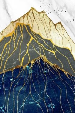 3D фотообои 5D картина «Золотой перевал. Арт 3» вид 1
