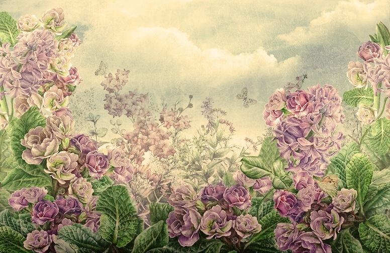 Купить 3D «Цветы на лугу» в интернет-магазине Design Studio 3D