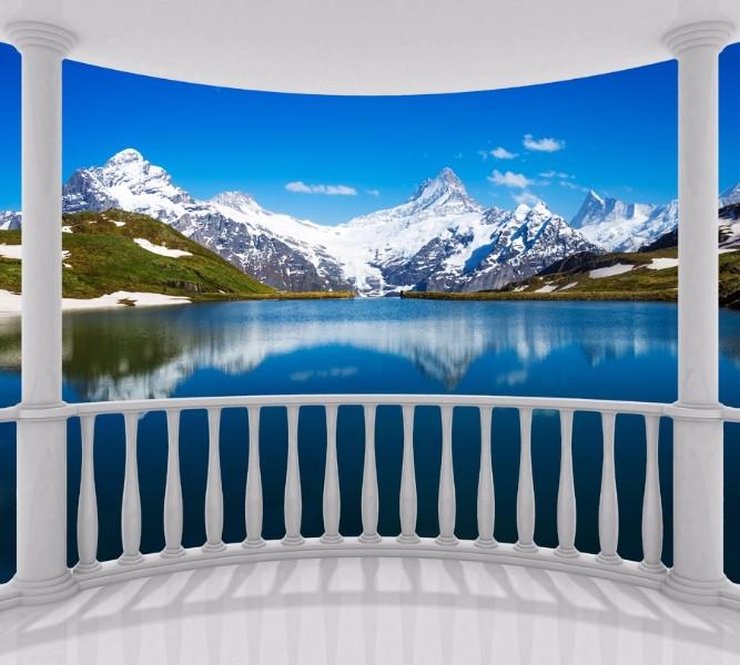 Фотошторы Балкон с видом на горы<br>kit: None; gender: None;