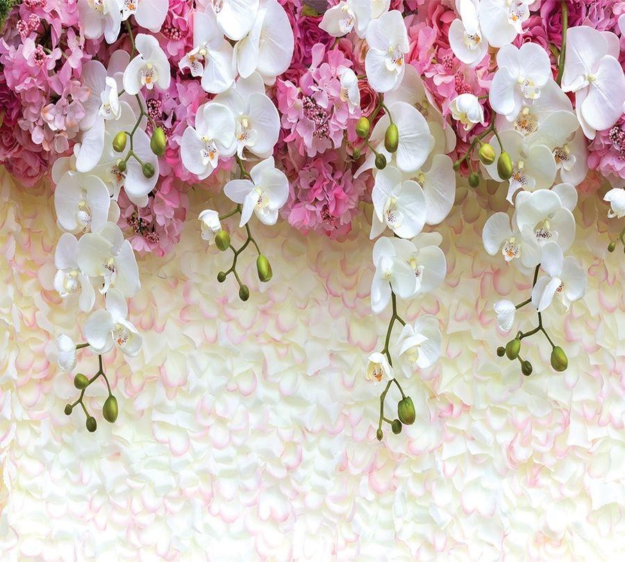 Фотошторы «Ниспадающие орхидеи» вид 1