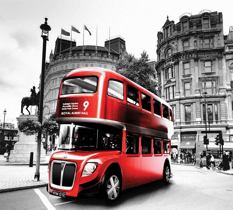 Фотошторы Красный автобус<br>kit: None; gender: None;