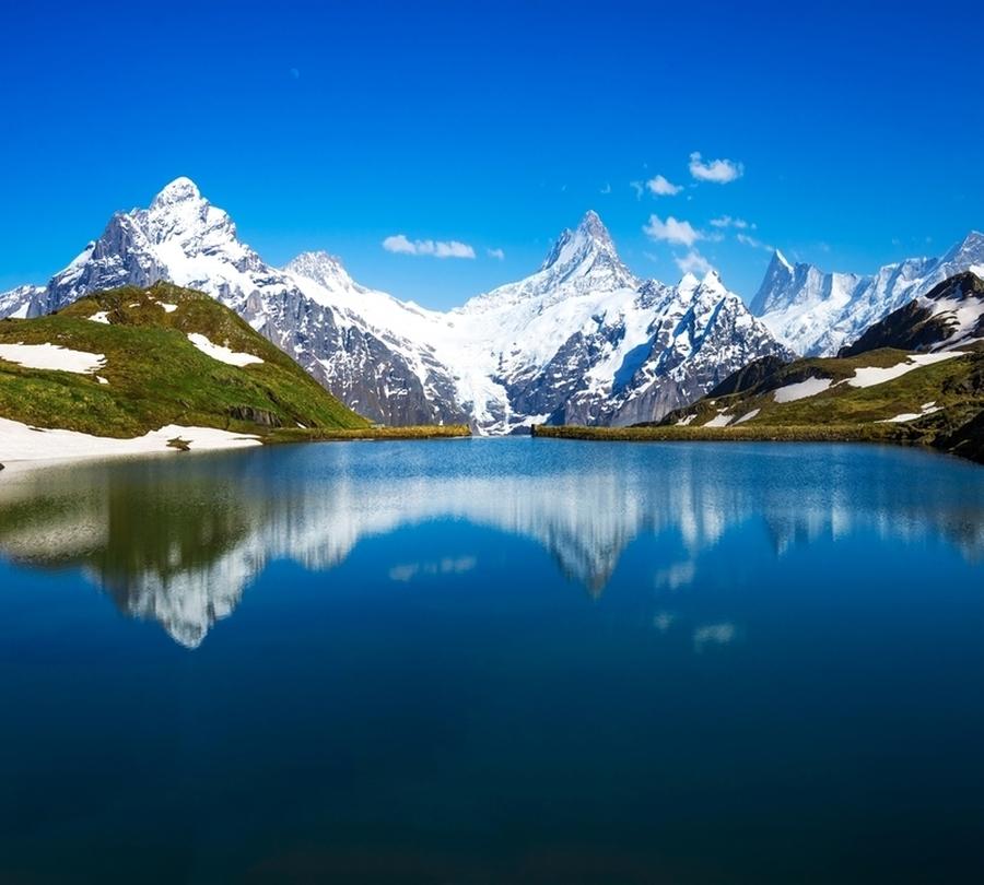 3D фотообои Фотошторы «Горное озеро» вид 1