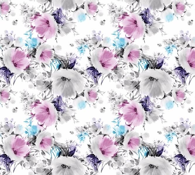 Фотошторы Акварельные цветы с сиреневым оттенком<br>kit: None; gender: None;