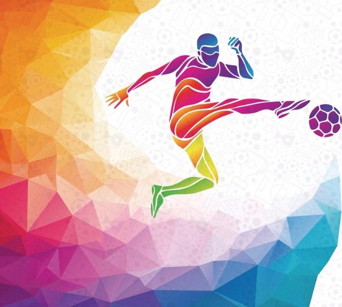 Фотошторы «Красочный футболист» вид 1
