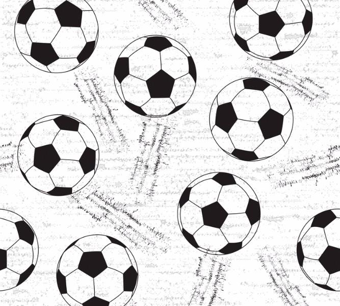 Фотошторы Узор из футбольных мячей<br>kit: None; gender: None;