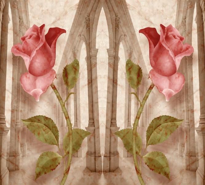 Фотошторы Мраморные розы<br>kit: None; gender: None;