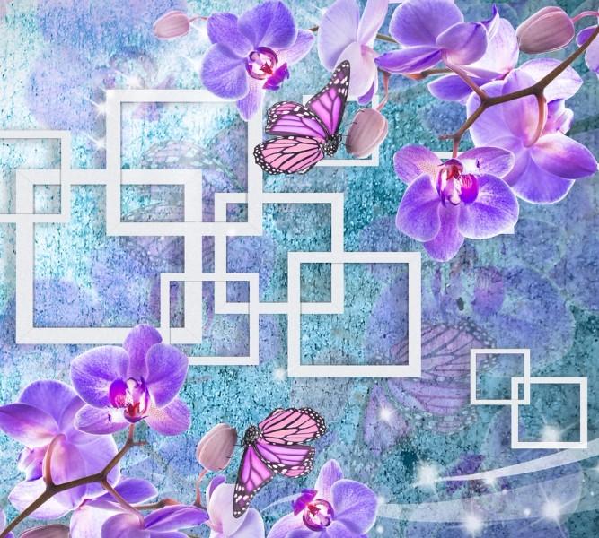 Фотошторы Современная композиция с орхидеями<br>kit: None; gender: None;