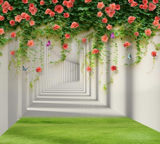 Фотошторы Тоннель с лианами роз<br>kit: None; gender: None;