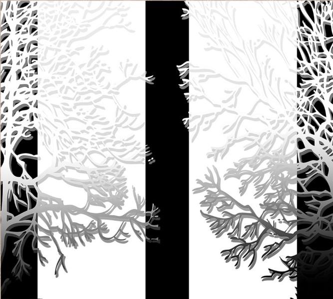 "Фотошторы ""Силуэты деревьев"" вид 1"