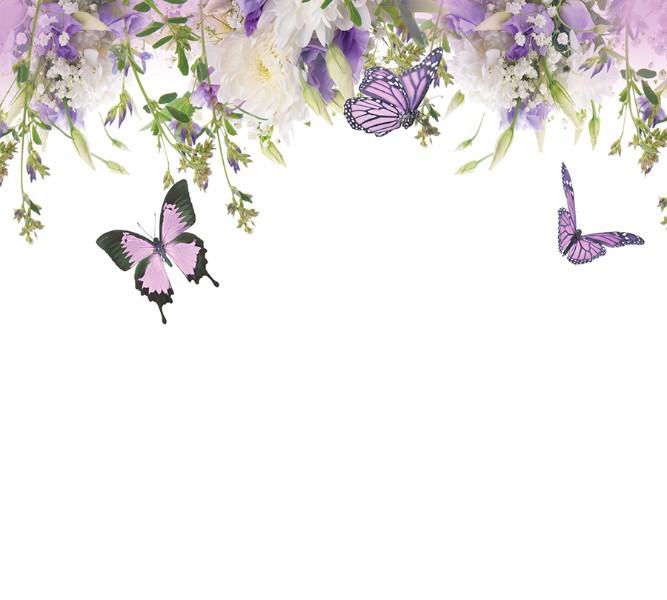 Фотошторы Сиреневые бабочки<br>kit: None; gender: None;