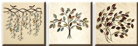 Модульная картина Ветви с птичками<br>kit: None; gender: None;