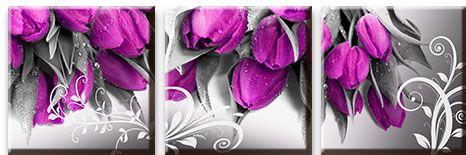 Модульная картина Букет тюльпанов<br>kit: None; gender: None;