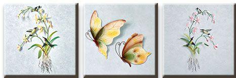 Модульная картина Колибри и бабочки<br>kit: None; gender: None;