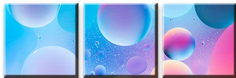 Модульная картина Красочные сферы<br>kit: None; gender: None;