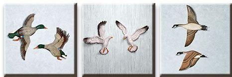 Модульная картина Паряшие птицы<br>kit: None; gender: None;