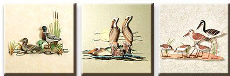 Модульная картина Птицы на пруду<br>kit: None; gender: None;
