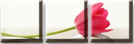 Модульная картина Тюльпан на вилке<br>kit: None; gender: None;