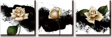 Модульная картина Бежевая роза на темной краске<br>kit: None; gender: None;