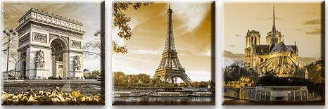 Модульная картина Франция старинные сооружения<br>kit: None; gender: None;