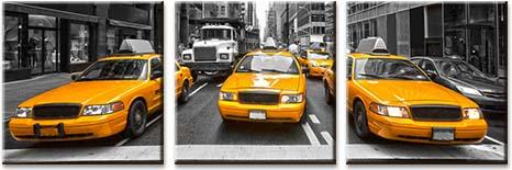 Модульная картина Желтое такси<br>kit: None; gender: None;