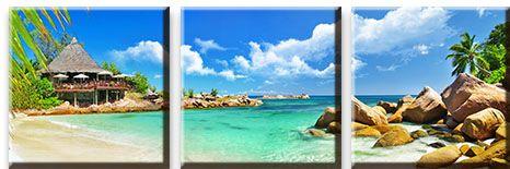 Модульная картина Пляж и ярко-голубое море<br>kit: None; gender: None;