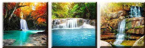Модульная картина Красочные водопады<br>kit: None; gender: None;