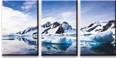 Модульная картина Ледники<br>kit: None; gender: None;