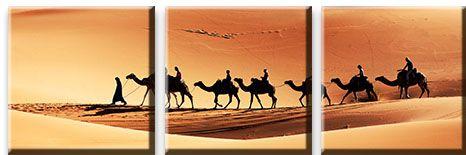 Модульная картина Караван в пустыне<br>kit: None; gender: None;