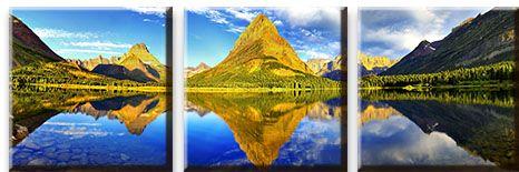 Модульная картина Озеро в сосновой долине<br>kit: None; gender: None;