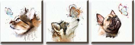 Модульная картина Животные с бабочками<br>kit: None; gender: None;