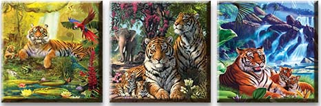 Модульная картина В царстве тигров<br>kit: None; gender: None;