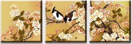 Модульная картина Птицы в японском саду<br>kit: None; gender: None;