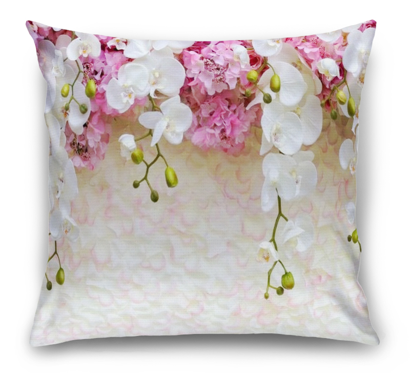 3D Подушка «Ниспадающие орхидеи» вид 1