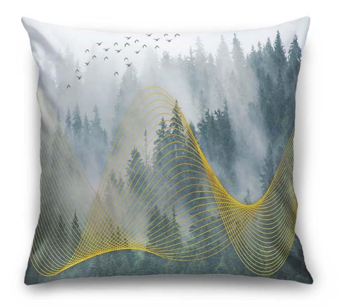 3D Подушка  «Туман над лесом» вид 6