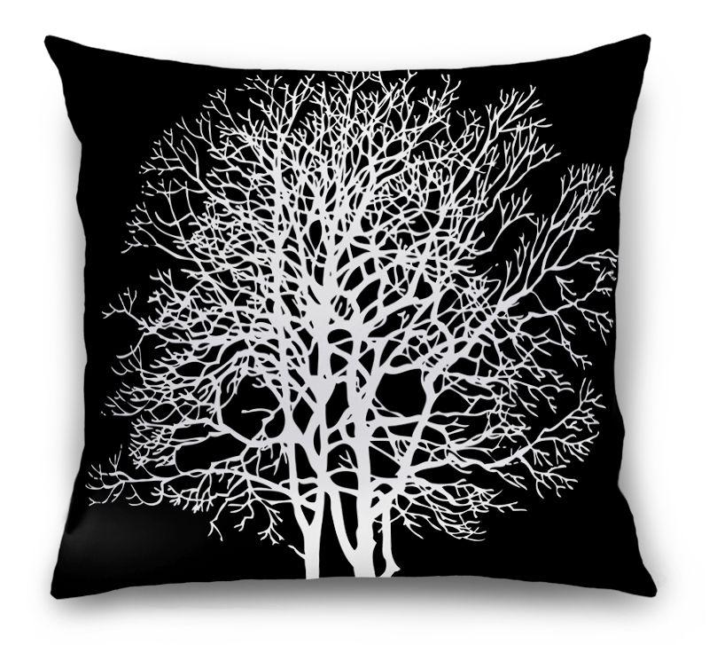 3D Подушка «Белое дерево»  вид 1