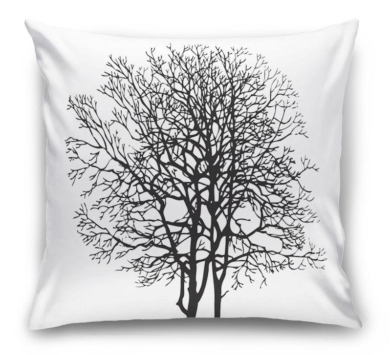 3D Подушка «Чёрное дерево»  вид 1