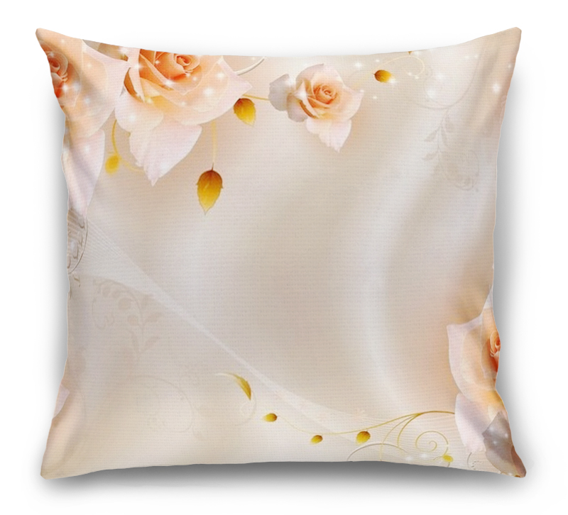 3D Подушка «Композиция с бежевыми розами» вид 1