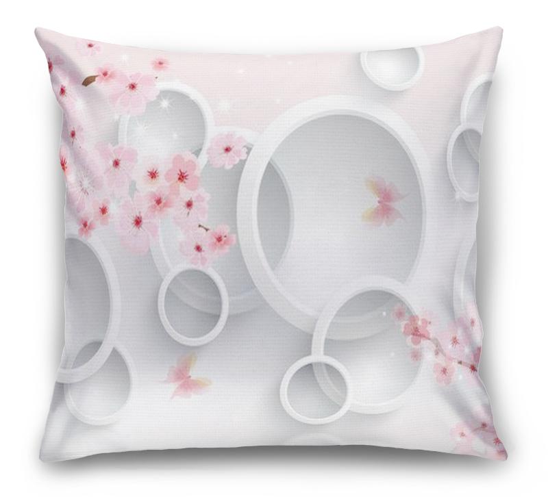 3D Подушка «Сакура в цвету»  вид 1