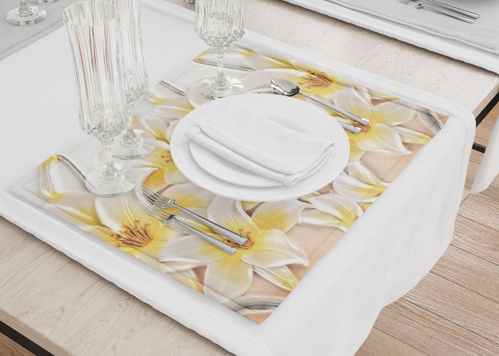 Подставки под горячее «Объемные лилии» — заказать в интернет-магазине Design Studio 3D. Индивидуальный дизайн, низкие цены, быстрая доставка, бонусы, скидки, 1000+ пунктов самовывоза, акции. Артикул: SAL-BR-004