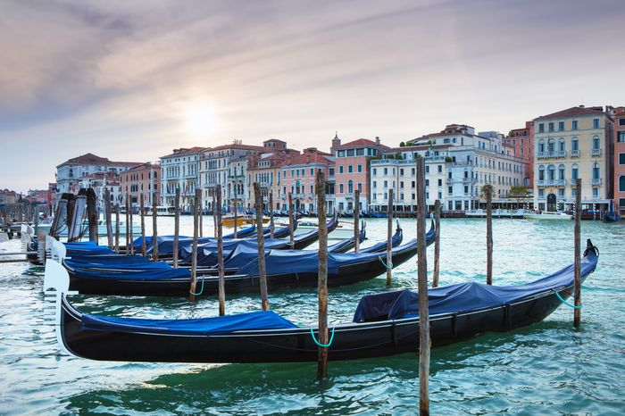 3D Фотообои «Сумерки в Венеции»<br>kit: None; gender: None;
