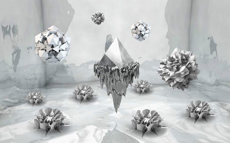 3D Фотообои «Парящие частицы»<br>kit: None; gender: None;