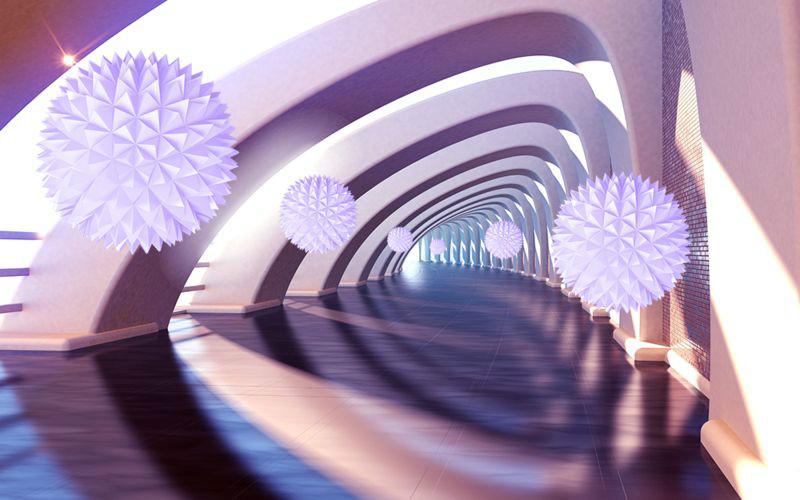 3D фотообои «Солнечный тоннель» вид 1
