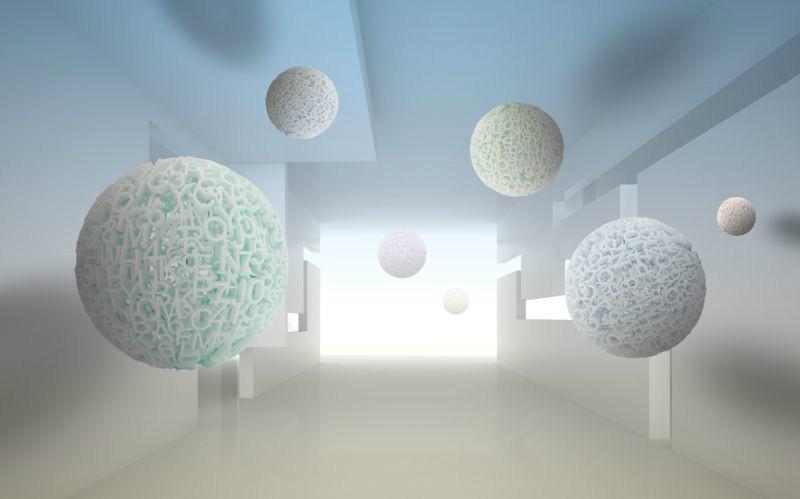 3D Фотообои «Сферическая абстракция»<br>kit: None; gender: None;