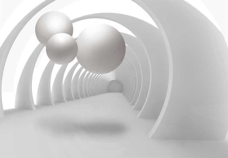 3D Фотообои «Жемчужины в арочном тоннеле»<br>kit: None; gender: None;