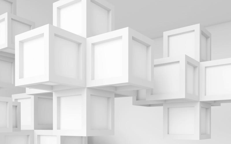 3D Фотообои «Кубическая абстракция»<br>kit: None; gender: None;