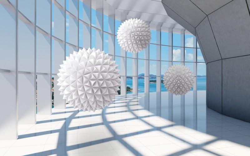 3D фотообои «Фантастическая терраса» вид 1