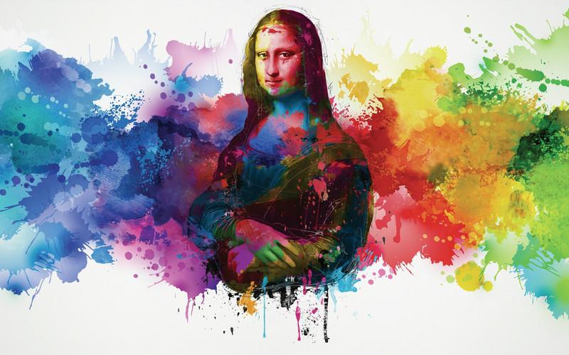 3D Фотообои «Мона Лиза в современном стиле»<br>kit: None; gender: None;