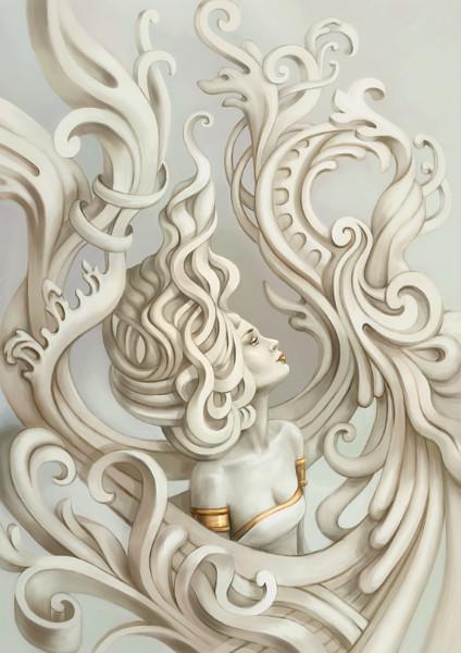 3D фотообои «Русалка барельеф» вид 1