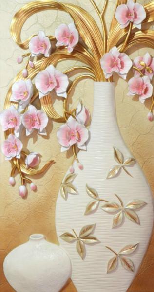"""Фотообои """"«Ваза с орхидеями»"""""""
