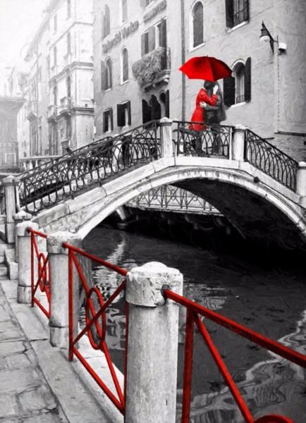 3D Фотообои «Влюбленные в Венеции»<br>kit: None; gender: None;